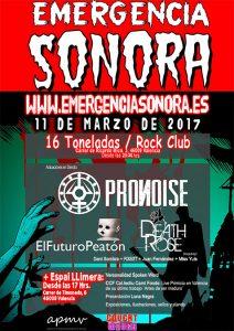 Cartel Festival Emergencia Sonora Valencia 2017